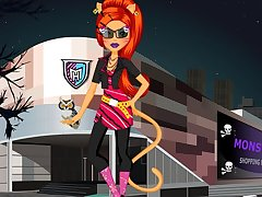 Monster High Toralei Stripe Shopping Dressup