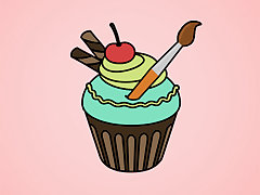 Yummy Cupcake Coloring