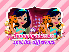 Funny Princesses Spot the Difference